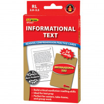 EP-3437 - Informational Text Red Lvl Reading Comprehension Practice Cards in Comprehension