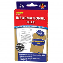 EP-3438 - Informational Text Blue Lvl Reading Comprehension Practice Cards in Comprehension