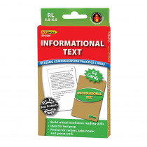 EP-3439 - Informational Text Grn Lvl Reading Comprehension Practice Cards in Comprehension