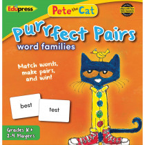 EP-3532 - Pete The Cat Purrfect Pairs Word Families Game in Language Arts