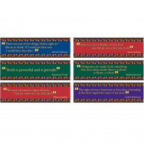 EP-3619 - Black American Quotes Mini Bulletin Board Set in Social Studies