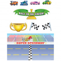 EP-3631 - Race Finish Incentive Mini Bulletin Board Set in Motivational