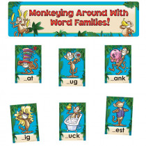 EP-3636 - Monkeying Around With Word Families Mini Bulletin Board Set in Language Arts
