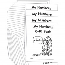 My Own Books: My Numbers 0-10 Book, 25-Pack - EP-60116 | Teacher Created Resources | Numeration