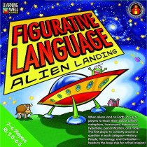 EP-LRN1070 - Figurative Language Alien Landing Green Level 5.0-6.5 in Language Arts