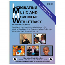 ETADVD804 - Integrating Music And Movement With Literacy in Dvd & Vhs