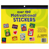 EU-458010 - Jumbo Sticker Books 480 Ct Motivational in Motivational