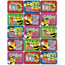 EU-658308 - 100 Days Of School Bees Success Stickers in Stickers