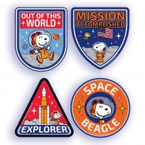 Peanuts NASA Sticker Badges, Pack of 40 - EU-659584 | Eureka | Badges