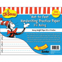 EU-805103 - Dr Seuss Hat To Feet 300Sht Handwriting Practice Paper in Handwriting Skills