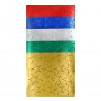 EU-82402 - Stickers Foil Stars 1/2 In 250/Pk Assorted in Stickers