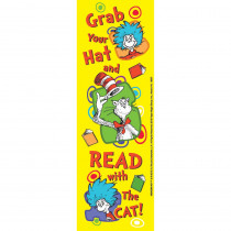 EU-834206 - Dr Seuss Grab Your Hat Bookmarks in Bookmarks