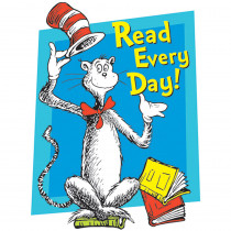 EU-836024 - Cat In The Hat Read Every Day Window Cling in Window Clings