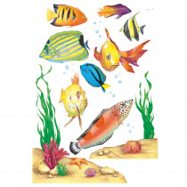 EU-83623 - Window Cling Fish 12 X 17 in Window Clings