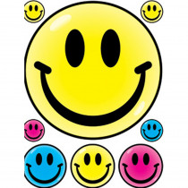 EU-83624 - Window Cling Smile Faces 12 X 17 in Window Clings