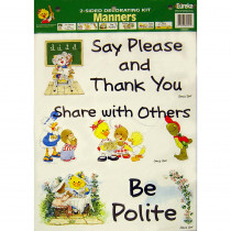 EU-84021 - 2-Sided Suzys Zoo Manners in Two Sided Decorations