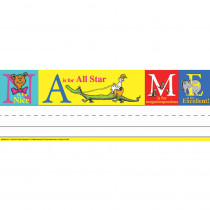 EU-843509 - Dr Seuss Abc Tented Name Plates in Name Plates