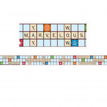 EU-845149 - Scrabble Letters Extra Wide Die Cut Deco Trim in Border/trimmer