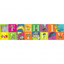 EU-845243 - Dr Seuss Abc Extra Wide Die Cut Deco Trim in Border/trimmer