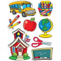 EU-846021 - More School Supplies 12X17 Window Clings in Window Clings