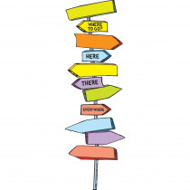 EU-847003 - Dr Seuss Blank Directional Signs Mini Bulletin Board Set in Miscellaneous
