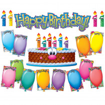 EU-847081 - Happy Birthday Mini Bulletin Board Set in Classroom Theme