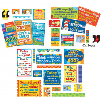 EU-847151 - Dr Seuss 35 Quotes Bulletin Board Set in Classroom Theme