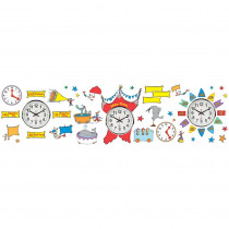 EU-847156 - Dr Seuss - If I Ran The Circus Telling Time Bulletin Board Set in Classroom Theme