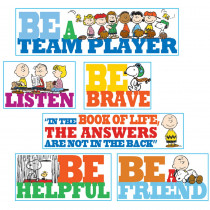EU-847542 - Peanuts Quotes Bulletin Board Set in Classroom Theme