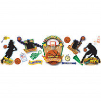 EU-847677 - Basketball Bulletin Board Set in Classroom Theme