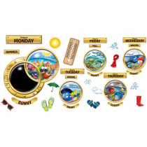 EU-847696 - Think Tank Morning Center Portholes Bulletin Board Set in Miscellaneous