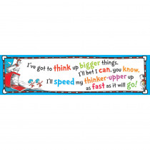 EU-849701 - Cat In The Hat Think Up Bigger Things Banner 45X12 in Holiday/seasonal