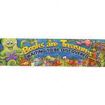 EU-84973 - Banner Books Are Treasures 45 X 12 Horizontal in Banners