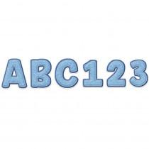 A Close-Knit Class Blue Felt Deco Letters, 179 Pieces - EU-850001 | Eureka | Letters