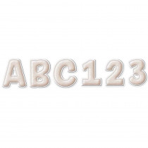 A Close-Knit Class Cream Felt Deco Letters, 179 Pieces - EU-850012 | Eureka | Letters