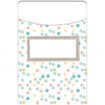 EU-866403 - Confetti Splash Library Pockets Dots in Library Cards