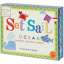 EU-BLC12701 - Set Sail Shaped Lacing Cards English/Spanish/French in Lacing