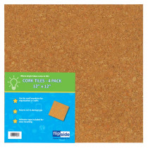 FLP10058 - Cork Tiles 12In X 12In Set Of 4 in Cork Boards