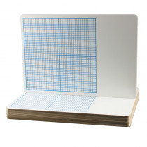 FLP11261 - Flipside 12Pk 1/4In Graph Dry Erase Boards Class Pack 11 X 16 in Dry Erase Boards