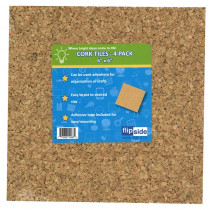 FLP12066 - Cork Tiles 6In X 6In Set Of 4 in Cork Boards
