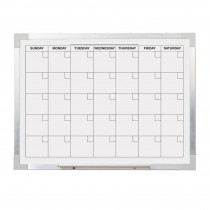 FLP17302 - Aluminum Magnetic Calendar Bd 18X24 Framed in Calendars