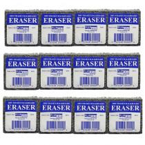 FLP30009 - Flipside Student Eraser 12Pk Class Pack 2X2 in Erasers
