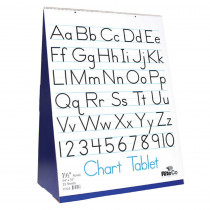 FLP30501 - Spiral Bound Flip Chart Stand With .5In Ruled Chart Tablet in Chart Tablets
