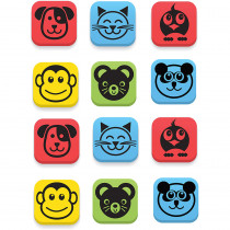 FLP35020 - Magnetic Erasers Animals Set Of 12 in Erasers