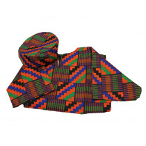 FPH324B - Ethnic Costumes Boys West African Shirt & Hat in Role Play