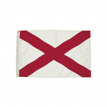 FZ-2002051 - 3X5 Nylon Alabama Flag Heading & Grommets in Flags