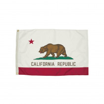 FZ-2042051 - 3X5 Nylon California Flag Heading & Grommets in Flags