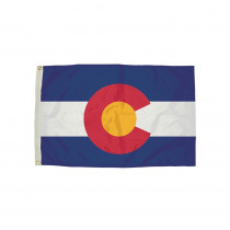 FZ-2052051 - 3X5 Nylon Colorado Flag Heading & Grommets in Flags