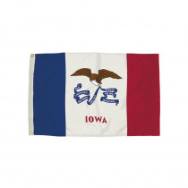 FZ-2142051 - 3X5 Nylon Iowa Flag Heading & Grommets in Flags