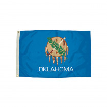 FZ-2352051 - 3X5 Nylon Oklahoma Flag Heading & Grommets in Flags
